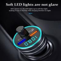 fm משדר נגני MP3 KAJARN רכב משדר FM VR רובוט FM אפנן Bluetooth 5.0 USB כפול דיבורית לרכב מתאם אלחוטי Charge (2)