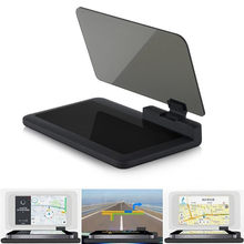 Auto Gps Navigator Car Mount Stand Telefoon Houder Zwart Antislip Mat Universele Smartphone Projector Hud Head Up Display houder(China)