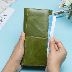Image 3 - Contacts Fashion Women Wallets With Card Holder Genuine Leather Long Clutch Brand Design Female Coin Purses Cell Phone Pocket