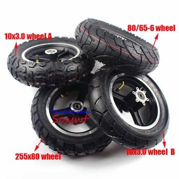 Tubo interior de neumático exterior de 10x3 pulgadas y Llanta de freno de disco de aleación para Scooter Eléctrico plegable de 10 pulgadas KUGOO M4 PRO ruedas ensanchadas y gruesas