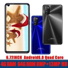 6,72 zoll Globale Smartphones A3 4G RAM + 64G ROM Quad Core 8MP + 13MP Vorne/Zurück kamera Android 6,0 Handys Celuares Entsperrt
