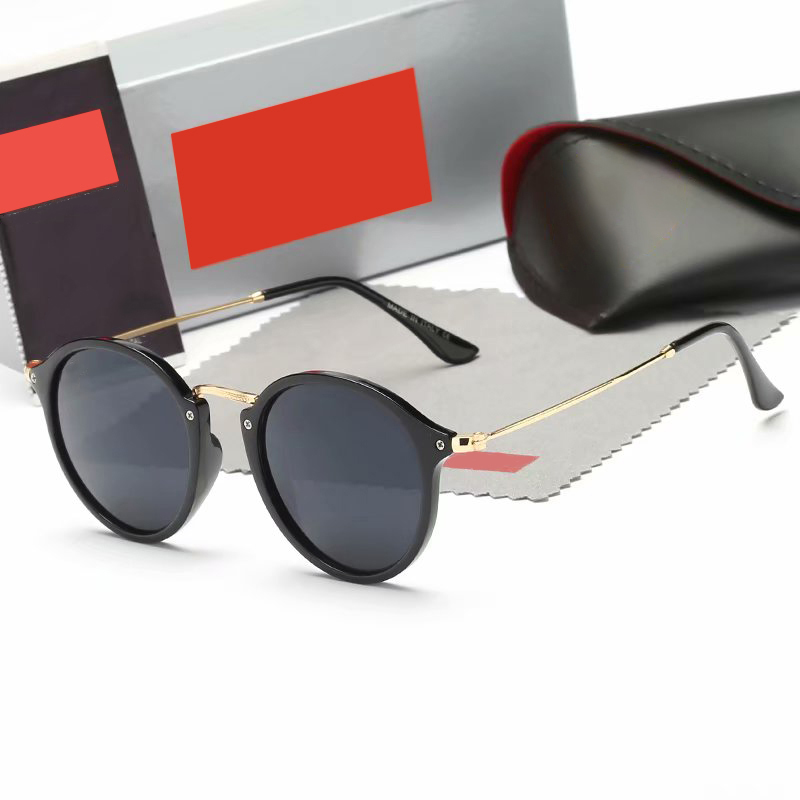 Superior Quality New 2020 Fashion Classic Vinatge 2447 Round Style Rayeds Sunglasses Men Women Brand Design Sun Glasses Oculos