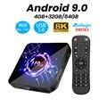 ТВ-приставка Android 9 0  8K  4K  H9-X3  4 ГБ  64 ГБ  32 ГБ  UltraHD  HDR  5g  1000 м  Wi-Fi  Amlogic S905X3  Youtube  Netflix  очень быстрая ТВ-приставка