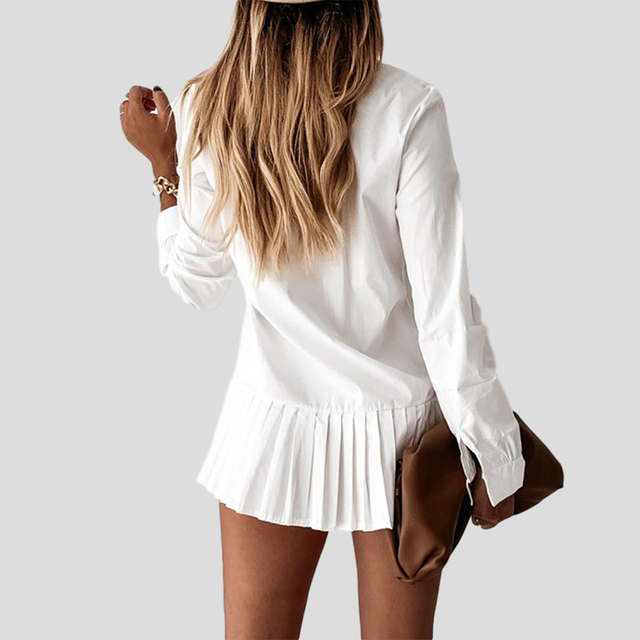 shirt dress with long ruffle 5