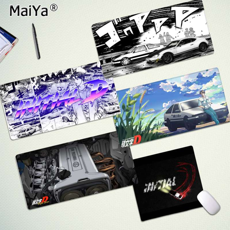 Maiya Cool New INITIAL D Super car AE86 Laptop Computer Mousepad Free Shipping Large Mouse Pad Keyboards Mat image