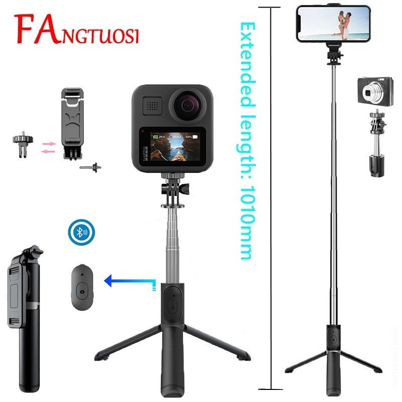 FANGTUOSI Wholesale New Q10 Wireless bluetooth selfie stick mini tripod Monopod with shutter remote control For IOS Android