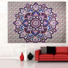 Indian Mandala Tapestry Bohemian Wall Hanging Sandy Beach Picnic Throw Rug Blanket Camping Tent Travel Mattress