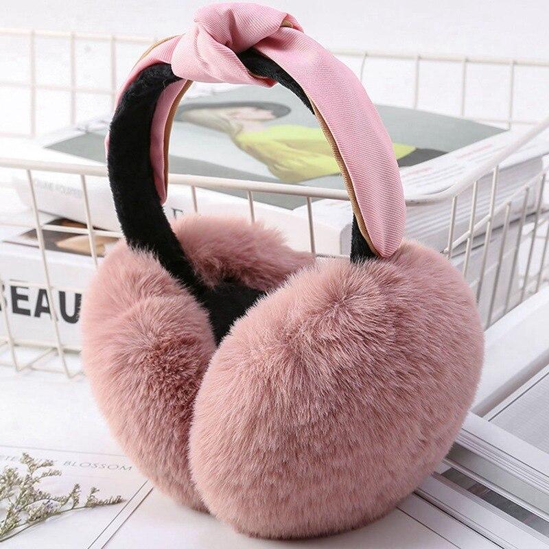Foldable Earmuffs Women Girl Fur Plush Ear Warmer Muffs Headband Cartoon