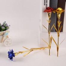 24K покрытые фольгой розовое золото подарки гвоздики подарки Декор