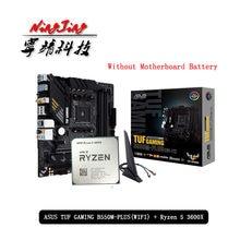 AMD Ryzen – Carte mère sans refroidisseur, tout neuf, 5 3600X R5 3600X CPU + ASUS TUF GAMING B550M PLUS (WI-FI), costume, socket, AM4,