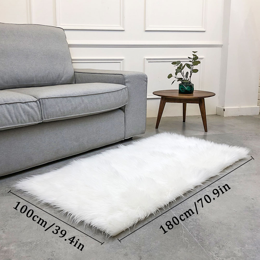 Laine tapis tapis sol moelleux tapis luxueux anti-dérapant chaud Rectangle multicolore 180X100cm maison chaise tapis chambre canapé - 3