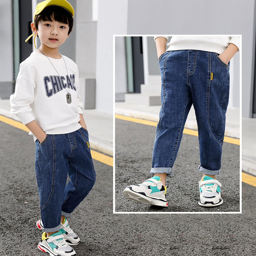 2020 Spring and Autumn Children Jeans Big Boys Casual Pants Korean style  Fashion Kids Leggings Baby Boy Clothes Formal Pants  - AliExpress