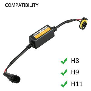 2x H11 Error Free Canbus Decoder LED Headlight Anti Flicker Resistor Canceller for LED Car Headlight Bulb Kits
