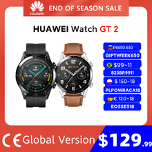 In lager Globale Version HUAWEI UHR GT 2 GT2 Smart UHR Blut Sauerstoff SmartWatch 14 Tage Anruf Herz Rate tracker GT 2