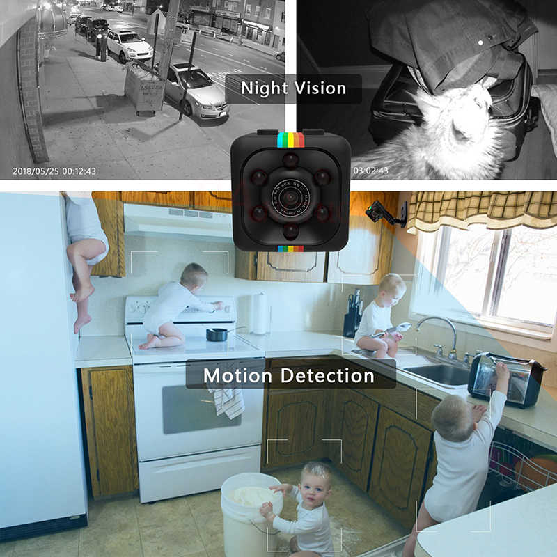 Sq11 Mini Kamera 480P HD Sensor Penglihatan Malam Motion DVR Mikro Kamera Olahraga DV Video Kecil Kamera Cam meter 11