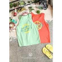 Vest Plus-Size Tank-Tops Print Brand-Clothing Vintage Summer New SIMWOOD Cotton Wash-Letter