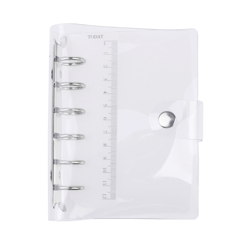 A5/A6/A7 PVC Notebook Notepad Sheet Shell Cover File Folder 6 Holes Binder DIY L41E