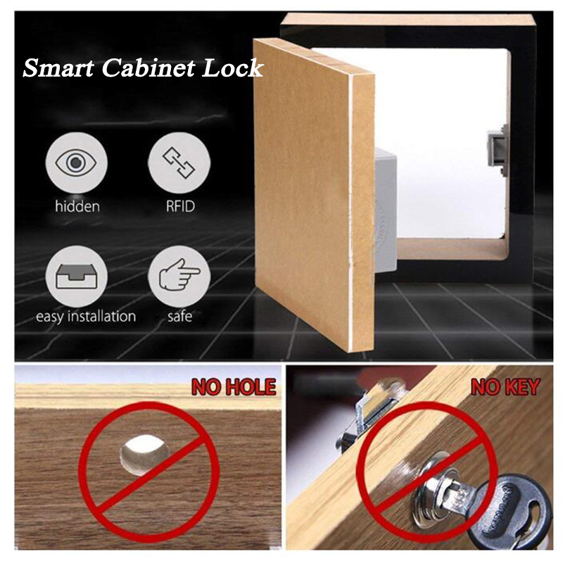 Home Gym Market Invisible Hidden Cabinet Lock Wardrobe Shoe Cabinet Drawer Door Lock Battery Electric RFID Lock