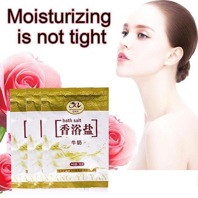 1 Bag Bath Sea Salts Exfoliator Rose Powder Shower Body Foot Massager Skin Care Spa Exfoliation Bath Salt 1