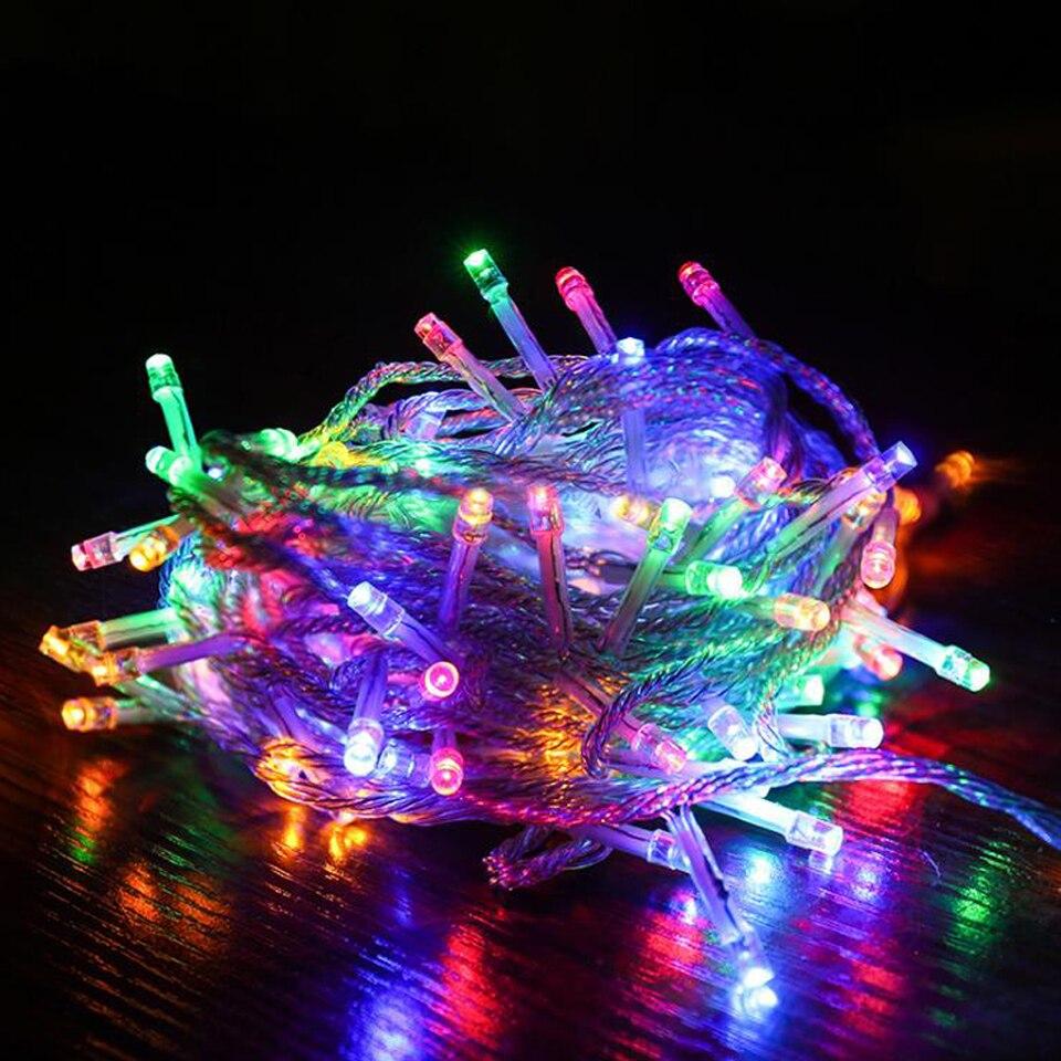 Holiday Led Light Ltring Lhristmas Lights Lutdoor 50M 20M 10M EU US Plug Led String Lights For Party Wedding Garland Decoration