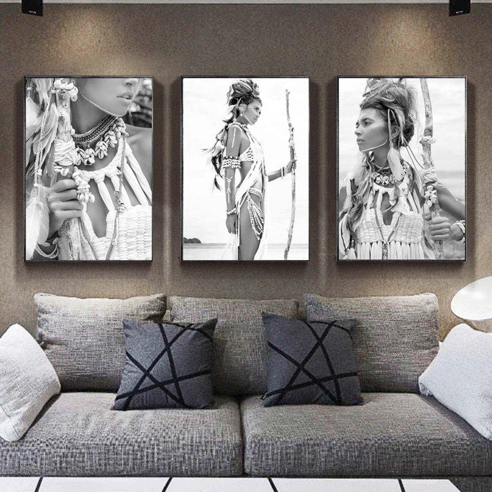 Indian-Woman-Nordic-Poster-Girl-Wall-Art-Canvas-Painting-Posters-And-Prints-Wall-Pictures-For-Living (2)