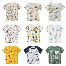 T-shirts Cartoon Boys Girls Kids Car Print T Shirt For a Boy Children Summer Short Sleeve T-shirt Cotton Tops Clothing 2-8 Years