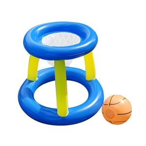 Image 5 - Надувной бассейн поплавок игрушки для взрослых детей футбол волейбол баскетбол Игры круг плавательный круг водный матрас Вечерние