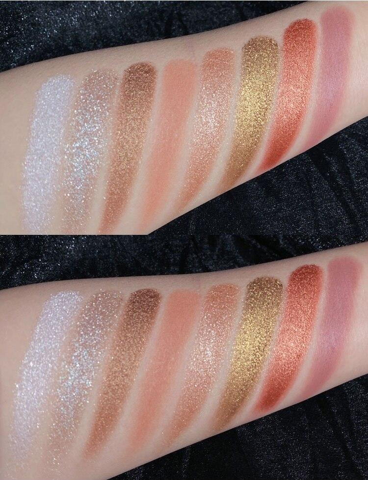 8 цветов блестящие алмазные тени для век Палитра матовые Мерцающие