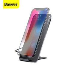 цена на Baseus 10W QI Wireless Charger For iPhone Xs X 8 Samsung Note9 8 S9 S8 Qi Wireless Charging Charger Pad Stand Docking Station