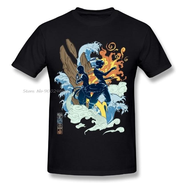 Quality Men's Avatar The Last Airbender T Shirt The Legend Of Korra T Shirt Summer Fashion Streetwear Camiseta Tees