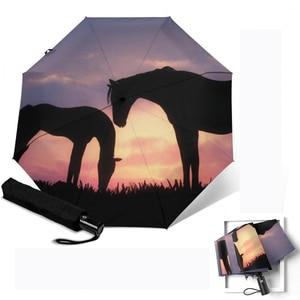 Horse Printing Umbrella 3 Fold