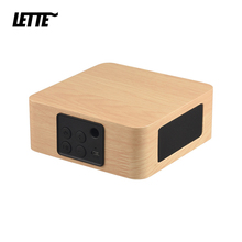 Bluetooth ahşap bas hoparlör Mini kablosuz Subwoofer taşınabilir bas sütun cep telefonu için