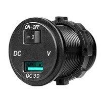 Qc3.0 quente carga rápida dupla usb 12 v 24 v isqueiro do carro divisor adaptador de carregador soquete para a motocicleta do caminhão de carro|Cabos  adaptadores e soquetes| |  -