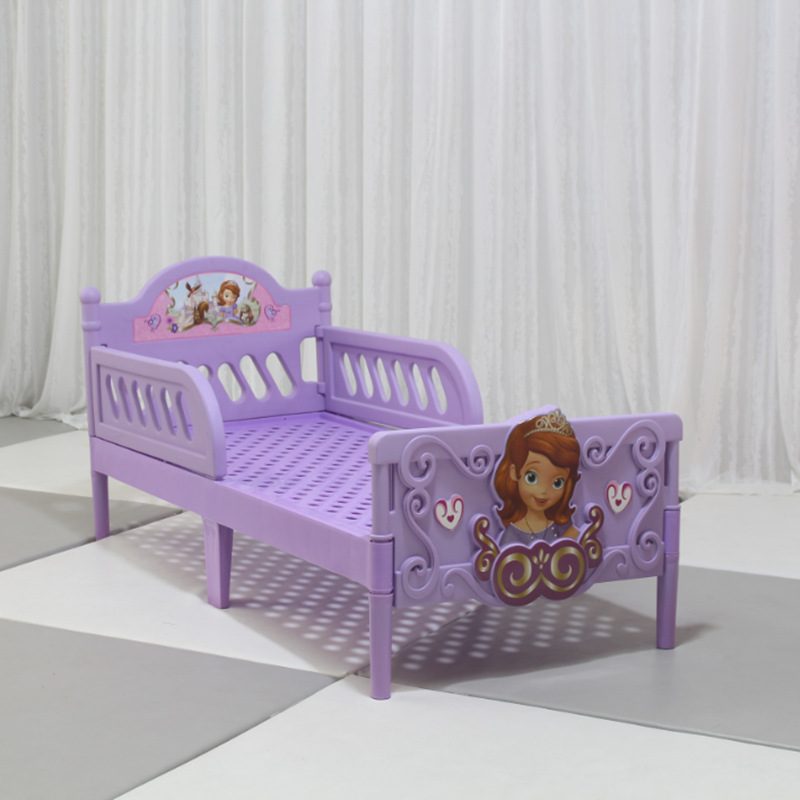 Big Size 1-6year Co-Sleeping CribsThickened Kindergarten Mickey Bed  Bed Cot Baby Bed  Plastic Cartoon Bed Moses Basket