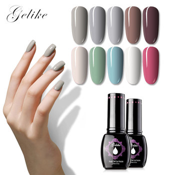 Gelike 15ml Gel UV Nail Gel Polish 30 Colors Long-lasting Gel Polish LED UV Soak off Nail Art Gel Polish LED UV Nail Art 30pcs pure colors uv gel soak off led gel lacquer uv nail set gel nail polish set