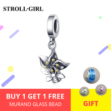 Strollgirl Authentic 925 sterling silver Cute Bee And Flowers Charms Beads Fit DIY original Bracelet Women Fashion Jewelry New