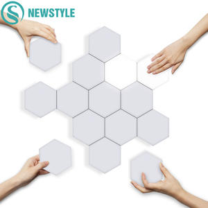 LED Hexagonal Wall-Lamp Night-Light Modular Creative Decoration Sensitive Magnetic DIY