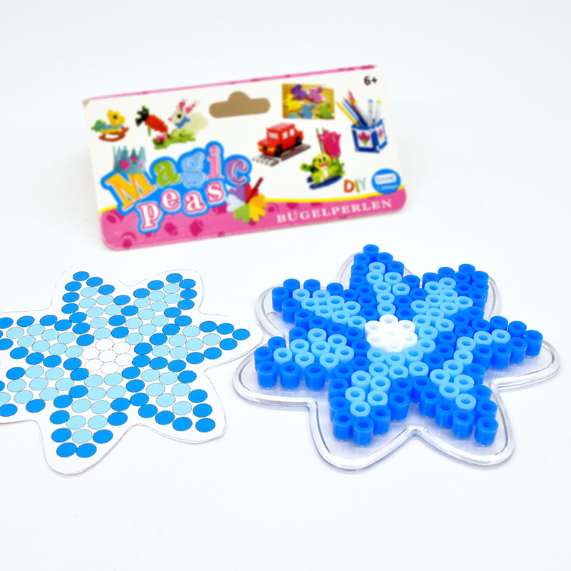 DIY Snowflake Fuse Beads 5mm Hama Beads  Puzzle Education Toy  Crafts For Kids  Kids Diy Educational