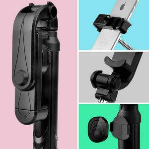 Image 4 - Universel sans fil Bluetooth Selfie bâton Mini pliable téléphone trépied extensible manipulé monopode pour téléphone portable Selfie bâton
