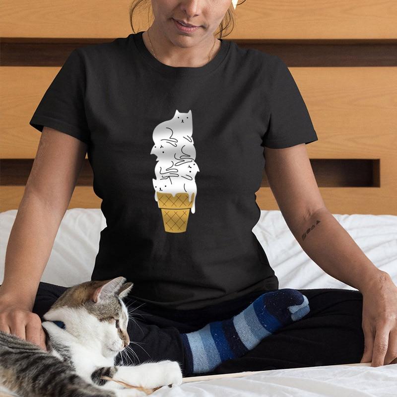 Cute Ice Cream Cats T-Shirt
