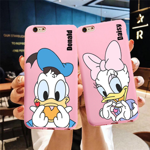 Cartoon Donald Duck Daisy Pink Silicone Candy Couple Phone Case For huawei p30 pro p30 lite p20 pro p10 mate 20 p10 lite honor 9(China)