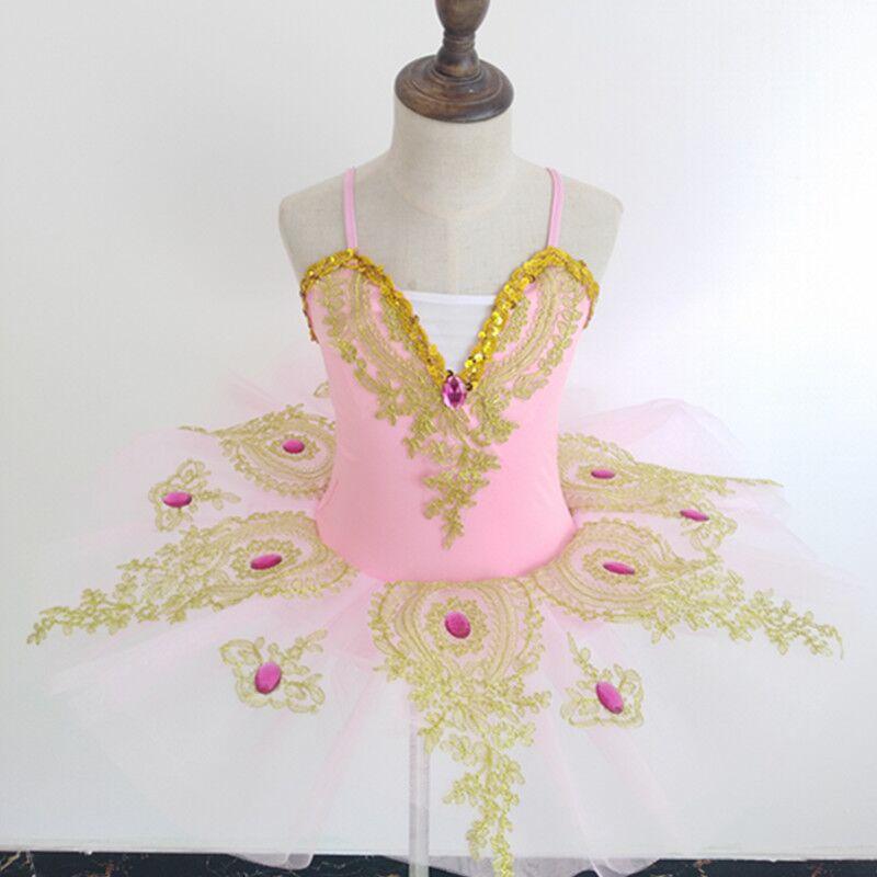 Детская танцевальная юбка балетное платье для девочек Новая юбка-американка с блестками, лебедь, одежда для выступлений для соревнований - Цвет: pink