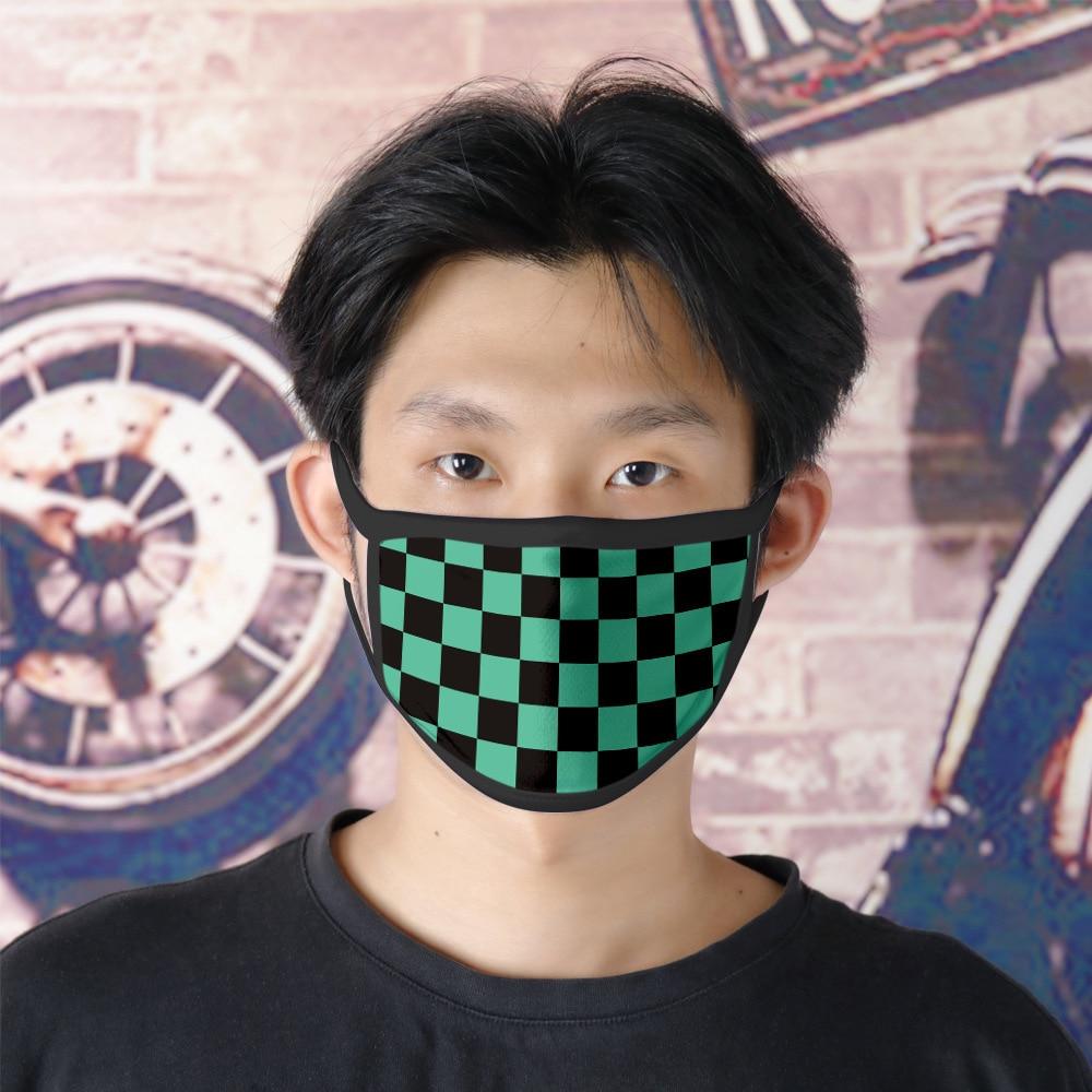 2020 Japan Hot Cosplay Face Mask Kimetsu No Yaiba Demon Slayer Masks Kamado Tanjirou Dustproof Anti-fog Haze-Style Face Mask
