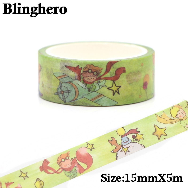 Little Prince And Fox Cute Washi Tape Adhesive Tape DIY Decoration Sticker Scrapbooking Diary Masking Tape Stationery Sticker