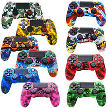 For SONY Playstation 4 PS4 Controller Case Wireless Bluetooth Thumb Grips Joystick Console Camo Skin Anti-slip Silicone Cover