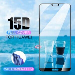 Image 2 - 15D Volledige Gebogen Beschermende Glas Voor Huawei P30 P20 Lite Pro 9h Gehard Glas Screen Protector Op P20 P30 lite Mate 20 Lite 20X
