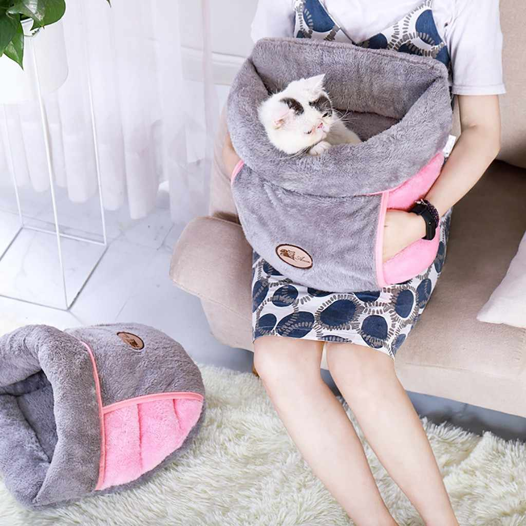 Pet Cat Dog House Kennel Puppy Cave Sleeping Bed So Soft Mat Pad Warm Nest Sleeping Bed So Soft Mat Pad Warm Nest cat hammock