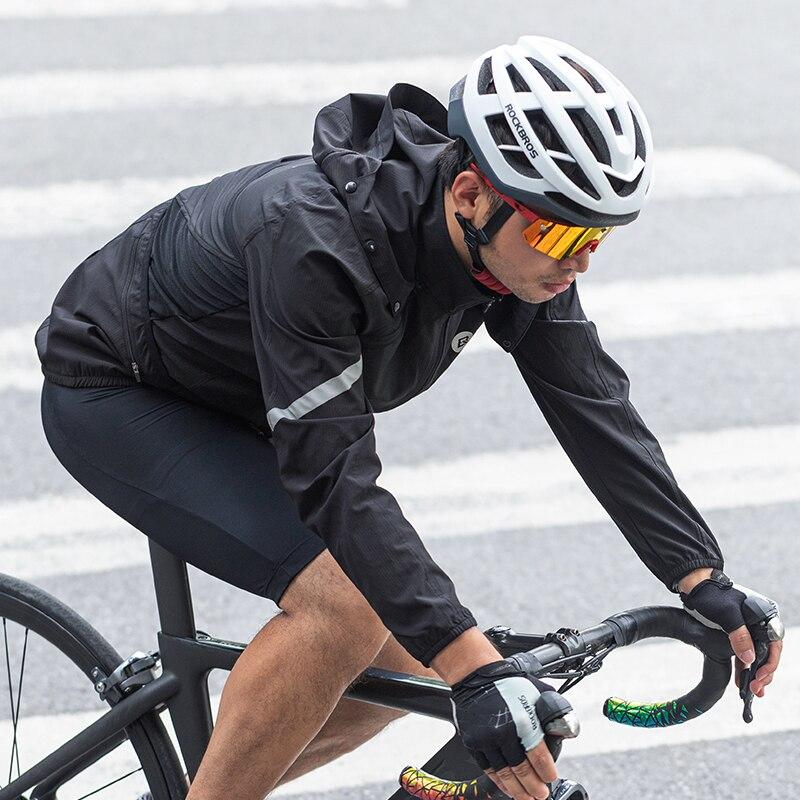 ROCKBORS Ultralight Reflective Men's Cycling Jacket Set Long Windproof Road Mountain Bike MTB Jackets Cycling Sets