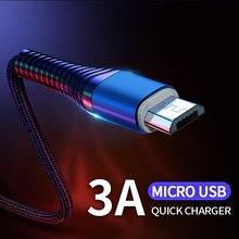Micro USB Kabel 3A Schnelle Lade Daten Sync Kabel Microusb-kabel Andriod USB Draht Handy Kabel Für Huawei Xiaomi samsung HTC