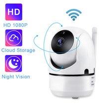 Qzt wifi dome câmera ip câmera de vigilância cctv 1080p 360 ° visão noturna monitor do bebê interno sem fio câmera de segurança em casa wi-fi